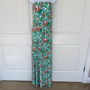 Lilly Pulitzer floral sleeveless maxi dress small